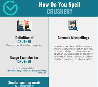 Correct spelling for crusher