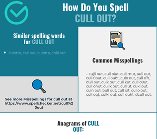 Correct spelling for cull out