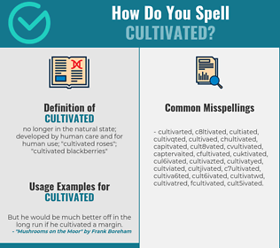 Correct spelling for cultivated