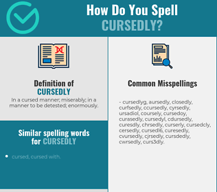 Correct spelling for cursedly