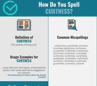 Correct spelling for curtness
