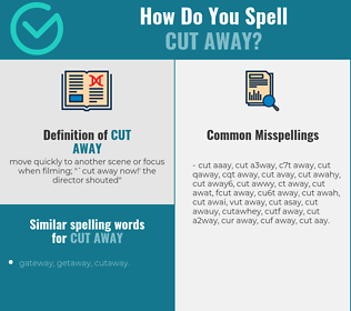 Correct spelling for cut away