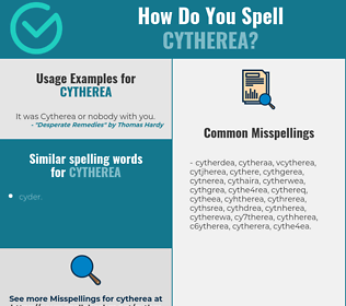 Correct spelling for cytherea