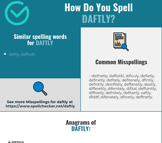 Correct spelling for daftly