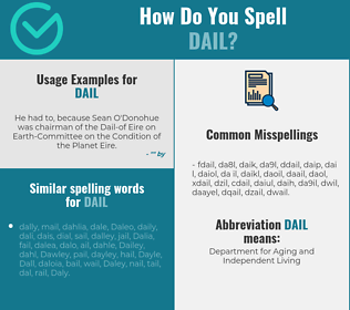 Correct spelling for dail