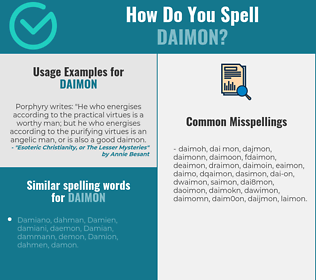 Correct spelling for daimon