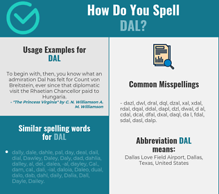 Correct spelling for dal