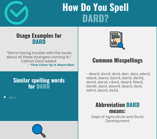 Correct spelling for dard