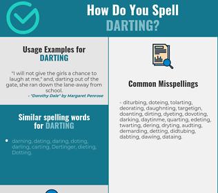 Correct spelling for darting