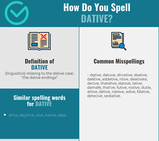 Correct spelling for dative