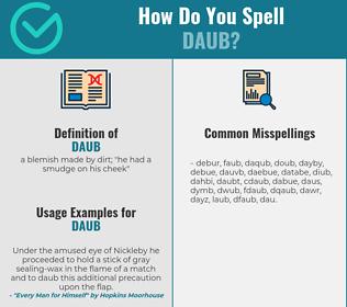 Correct spelling for daub