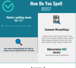 Correct spelling for dds