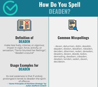 Correct spelling for deaden