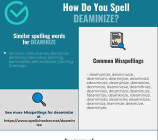 Correct spelling for deaminize