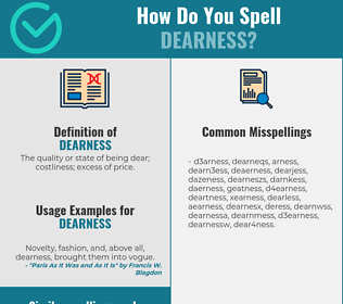 Correct spelling for dearness