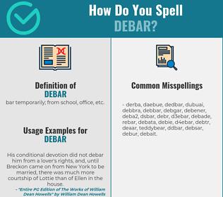 Correct spelling for debar