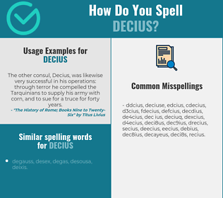Correct spelling for decius