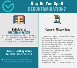 Correct spelling for decontamination