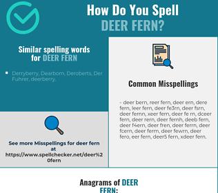 Correct spelling for deer fern