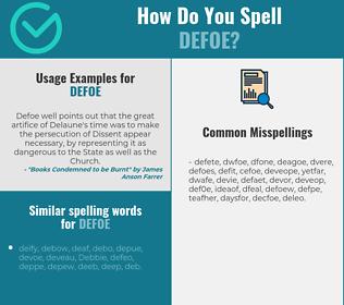 Correct spelling for defoe