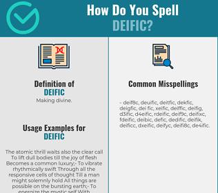 Correct spelling for deific