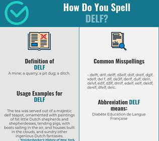 Correct spelling for delf