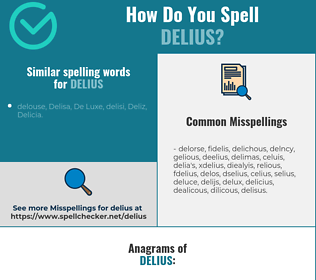 Correct spelling for delius