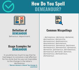 Correct spelling for demeanour