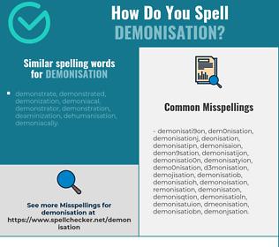 Correct spelling for demonisation