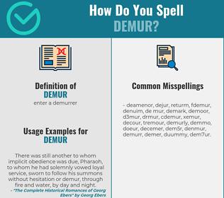 Correct spelling for demur