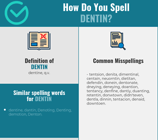 Correct spelling for dentin
