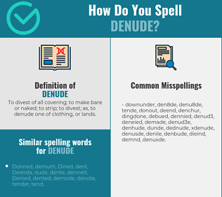 Correct spelling for denude