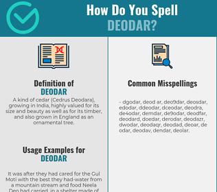 Correct spelling for deodar