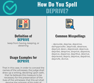Correct spelling for deprive
