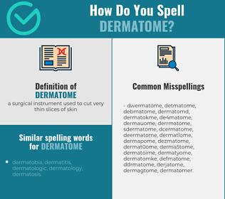 Correct spelling for dermatome