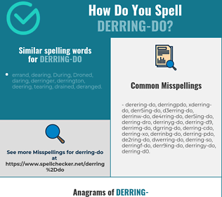 Correct spelling for derring-do