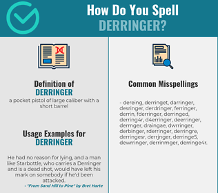 Correct spelling for derringer