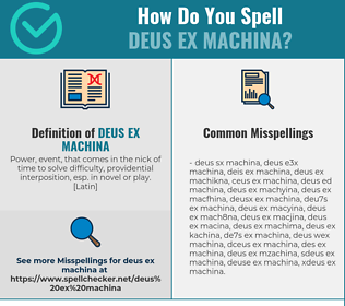 Correct spelling for Deus Ex Machina