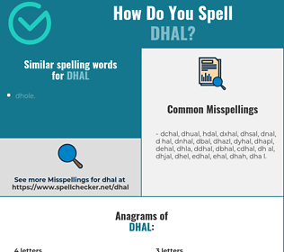 Correct spelling for dhal