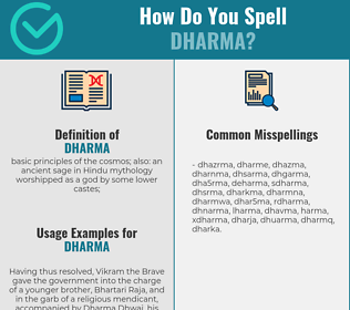 Correct spelling for dharma