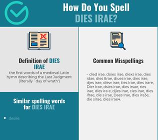 Correct spelling for Dies Irae