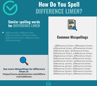 Correct spelling for difference limen