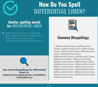 Correct spelling for differential limen