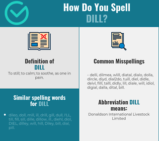 Correct spelling for dill