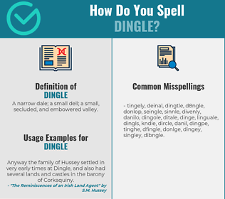 Correct spelling for dingle