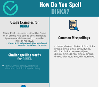 Correct spelling for dinka