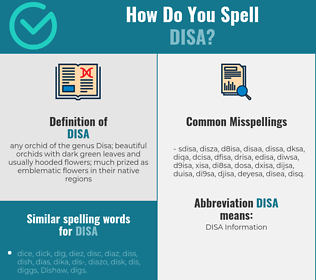Correct spelling for disa