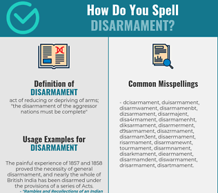 Correct spelling for disarmament
