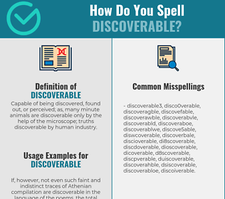 Correct spelling for discoverable