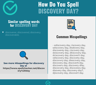 Correct spelling for discovery day